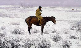 Frederic Remington | The Herd Boy | Giclée Canvas Print