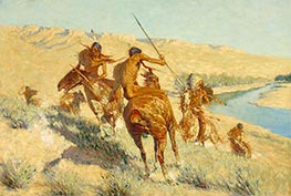 Frederic Remington | Episode of the Buffalo Gun, 1909 | Giclée Canvas Print