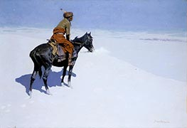 Frederic Remington | Friends or Foes? (The Scout) | Giclée Canvas Print