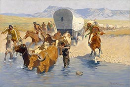 Frederic Remington | The Emigrants, c.1904 | Giclée Canvas Print