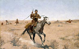 Frederic Remington | The Flight (A Sage-Brush Pioneer), 1895 | Giclée Canvas Print