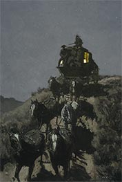 Frederic Remington | The Old Stage-Coach of the Plains, 1901 | Giclée Canvas Print