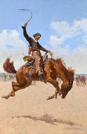 Frederic Remington | A Buck-Jumper, c.1893 | Giclée Canvas Print