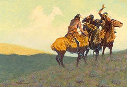 Frederic Remington | With the Eye of the Mind, 1908 | Giclée Canvas Print
