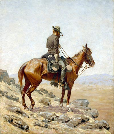 Frederic Remington | The Lookout, 1887 | Giclée Canvas Print