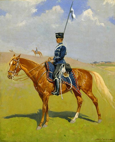 The Hussar, 1893 | Frederic Remington | Painting Reproduction