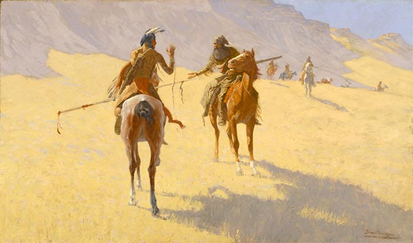 The Parley, 1903 | Frederic Remington | Giclée Canvas Print