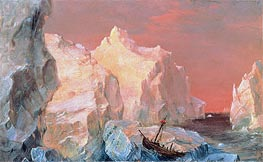 Frederic Edwin Church | Icebergs and Wreck in Sunset | Giclée Canvas Print