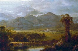 Frederic Edwin Church | The Mountains of Ecuador | Giclée Canvas Print