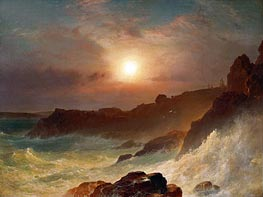 Frederic Edwin Church | Coast Scene, Mount Desert | Giclée Canvas Print