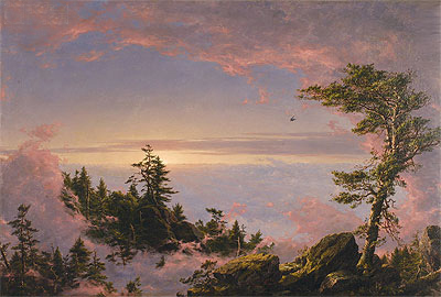 Above the Clouds at Sunrise, 1849 | Frederic Edwin Church | Giclée Canvas Print