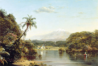 View on the Magdalena River, 1857   Frederic Edwin Church   Giclée Canvas Print