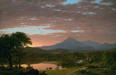 Mountain Ktaadn, 1853 | Frederic Edwin Church | Giclée Canvas Print