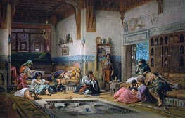 Frederick Arthur Bridgman | The Nubian Story Teller in the Harem | Giclée Canvas Print