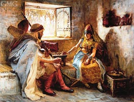 Frederick Arthur Bridgman | The Game of Chance | Giclée Canvas Print