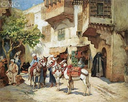 Frederick Arthur Bridgman | The Market Square | Giclée Canvas Print
