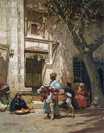 Frederick Arthur Bridgman | Outside the Mosque | Giclée Canvas Print