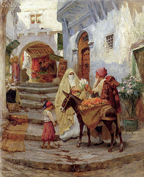 The Orange Seller, 1920 | Frederick Arthur Bridgman | Giclée Canvas Print