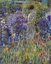 Frederick Frieseke | Lady in a Garden, c.1912 | Giclée Canvas Print