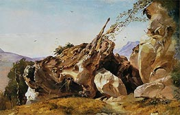 Friedrich Nerly | Study of Rocks and Roots at Olevano, undated | Giclée Canvas Print