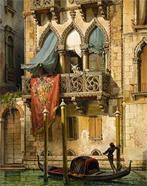 Friedrich Nerly | The Palazzo Contarini in Venice (The House of Desdemona) | Giclée Canvas Print