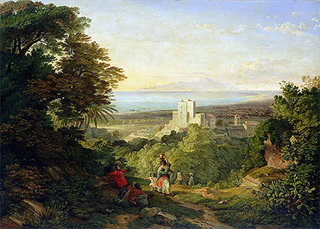 View of Terracina and Monte Circeo, 1833 | Friedrich Nerly | Painting Reproduction
