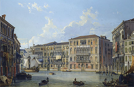 The Palazzo Foscari on the Grand Canal, Venice, undated | Friedrich Nerly | Giclée Canvas Print
