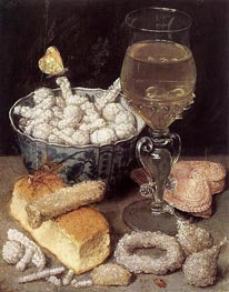 Georg Flegel | Still Life with Bread and Confectionery, undated | Giclée Canvas Print