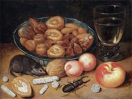 Georg Flegel | Still Life with Chestnuts and Hazelnuts, undated | Giclée Canvas Print