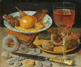 Georg Flegel | Meal with Fruit and Sweetmeats, undated | Giclée Canvas Print