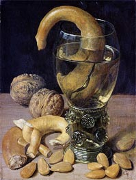 Georg Flegel | Still life with Pretzels, Nuts and Almonds, 1637 | Giclée Canvas Print