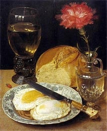 Georg Flegel | Snack with Fried Eggs | Giclée Paper Print