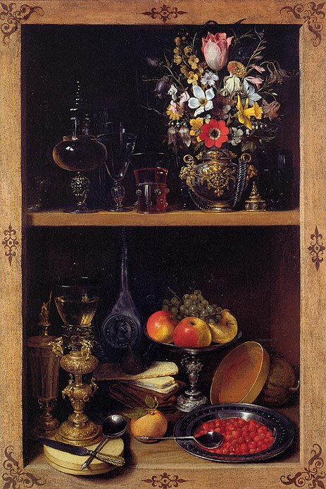 Cupboard Picture with Flowers, Fruit and Goblets, c.1610 | Georg Flegel | Giclée Canvas Print