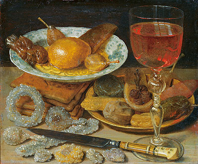 Meal with Fruit and Sweetmeats, undated | Georg Flegel | Giclée Canvas Print