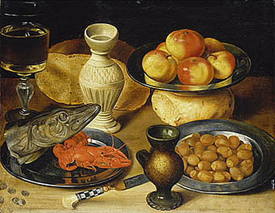 Meal with Pike Head, undated   Georg Flegel   Painting Reproduction