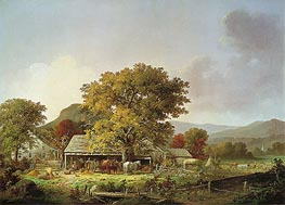 George Henry Durrie | Autumn in New England, Cider Making, 1863 | Giclée Canvas Print
