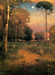 George Inness   Early Moonrise, Florida (Early Morning, Florida)   Giclée Canvas Print