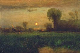 George Inness | Harvest Moon | Giclée Canvas Print