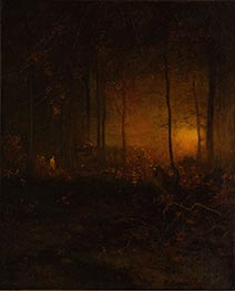 George Inness | Watching the Sun Glow, 1887 | Giclée Canvas Print