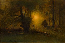 George Inness | Sunrise in the Woods, 1887 | Giclée Canvas Print