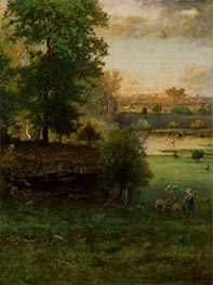 George Inness | Scene at Durham, an Idyll | Giclée Canvas Print