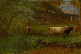 George Inness | A Pastoral, c.1882/85 | Giclée Canvas Print