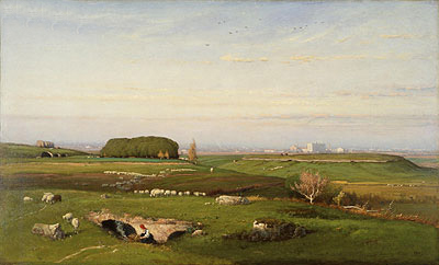 In the Roman Campagna, 1873 | George Inness | Painting Reproduction
