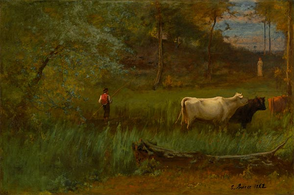 A Pastoral, c.1882/85 | George Inness | Painting Reproduction