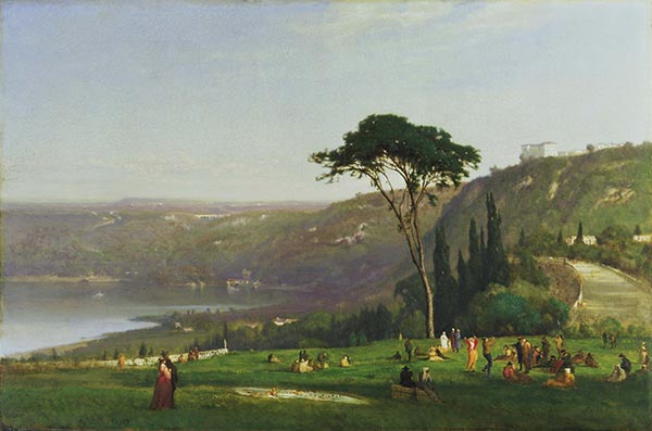 Lake Albano, 1869   George Inness   Painting Reproduction