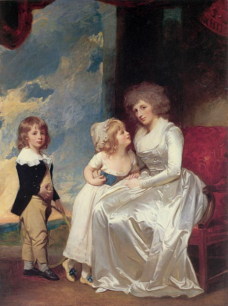The Countess of Warwick and Her Children, c.1787/89 | George Romney | Giclée Canvas Print