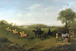 George Stubbs | Racehorses Exercising, c.1859/60 | Giclée Canvas Print