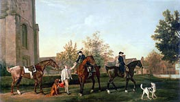 George Stubbs | Lord Torrington's Hunt Servants Setting Out from Southill, Bedfordshire | Giclée Canvas Print