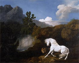 George Stubbs | A Horse frightened by a Lion, 1770 | Giclée Canvas Print