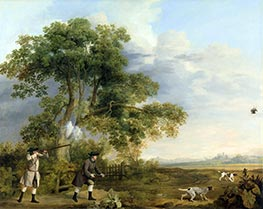 George Stubbs | Two Gentlemen Shooting, c.1769 | Giclée Canvas Print